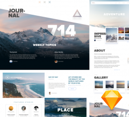 Journey website template for sketch