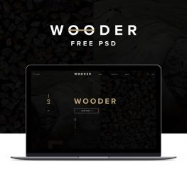 Dark Theme for Wood Company Industrie PSD