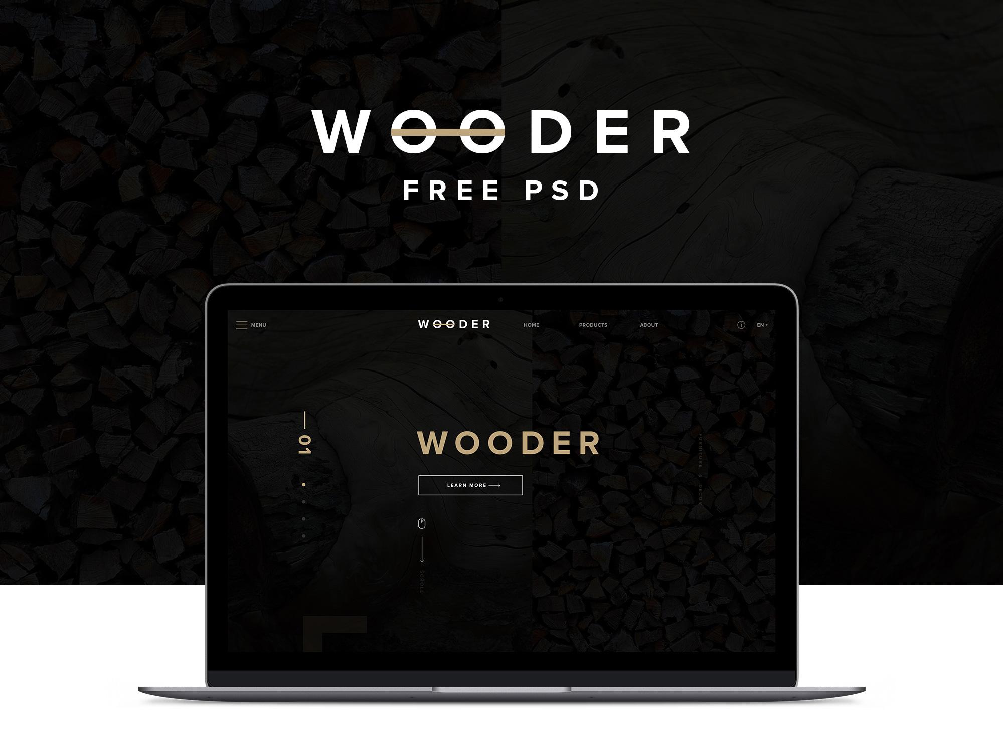 Modern Wood Company Free PSD resource