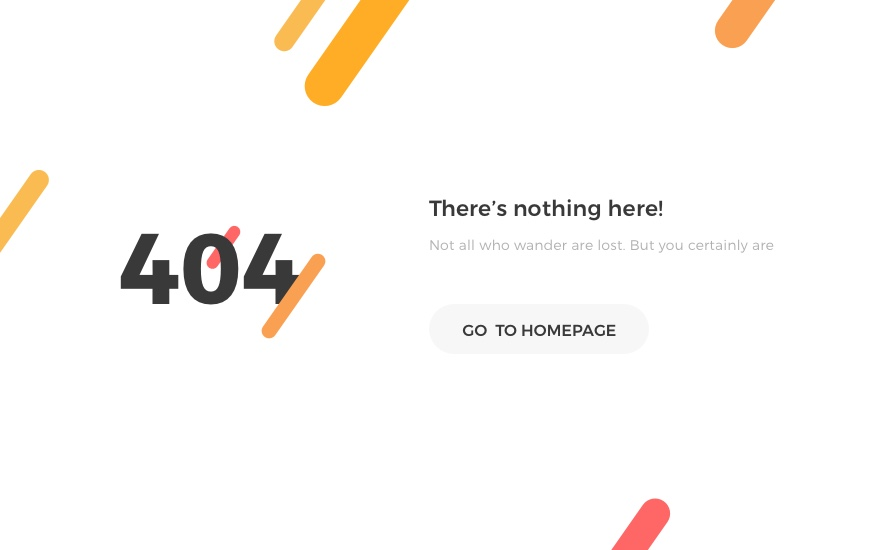 404 Error Page Template for Websites in Sketch for Free