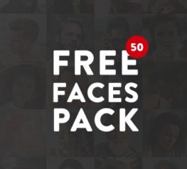 50 Free Faces Pack - Profile Pictures and Avatars for UI UX Designers Misc Resource