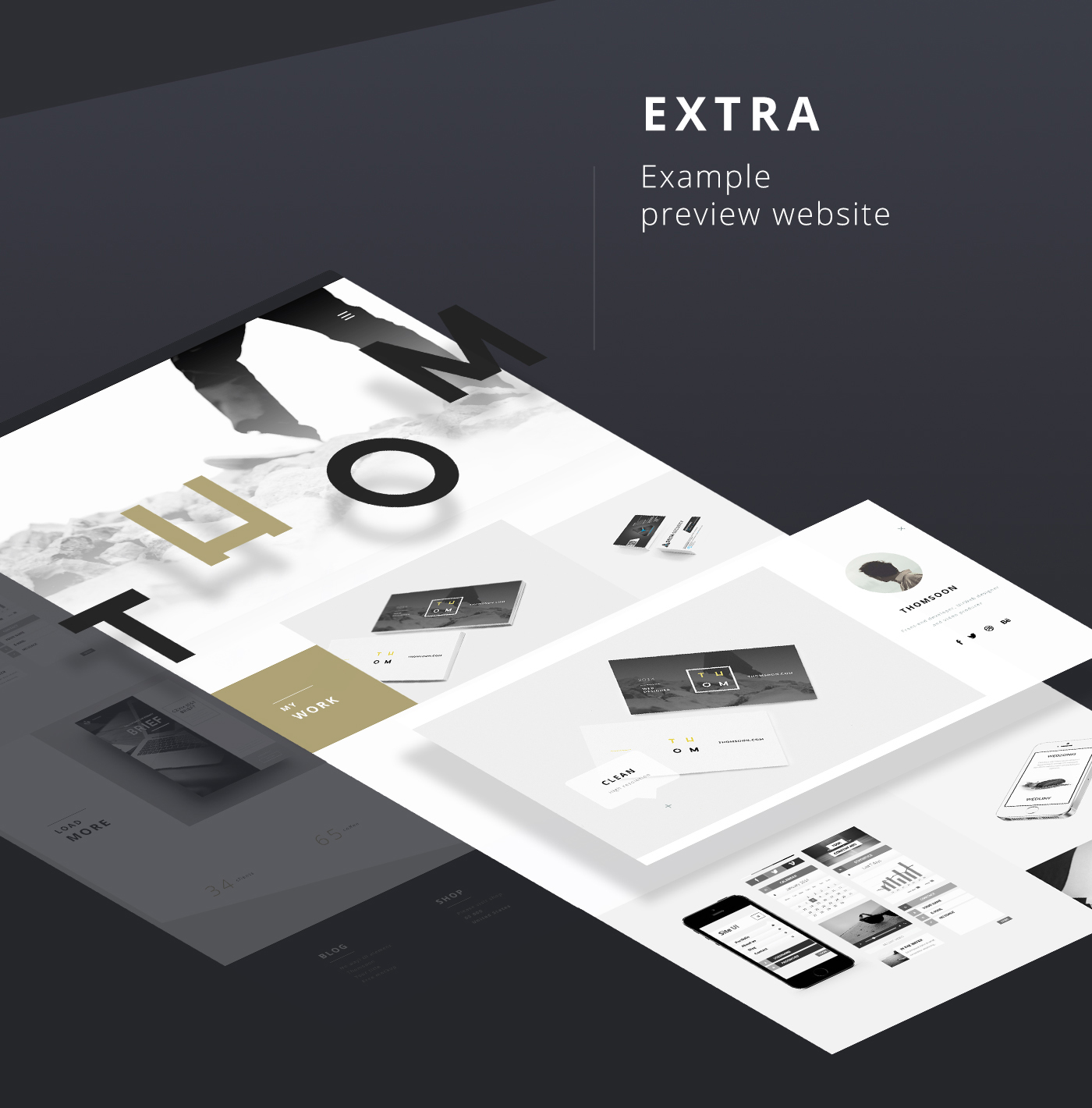 55 Free UI Elements with Extra Website preview