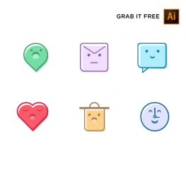 Cute and Sweet Vector Icons for UI designers