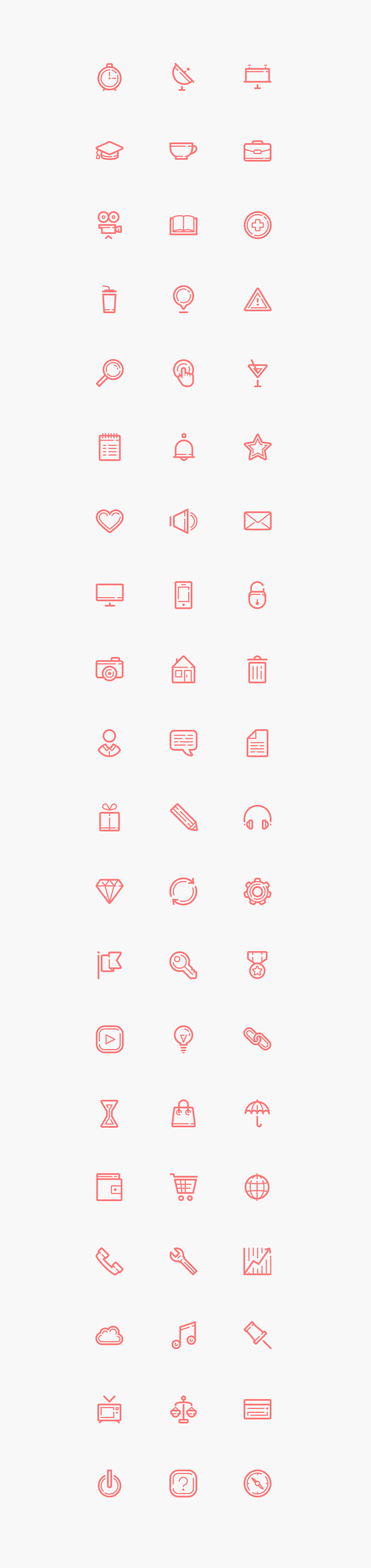 60 Free Clean Outline Icons for Photoshop and Illustrator