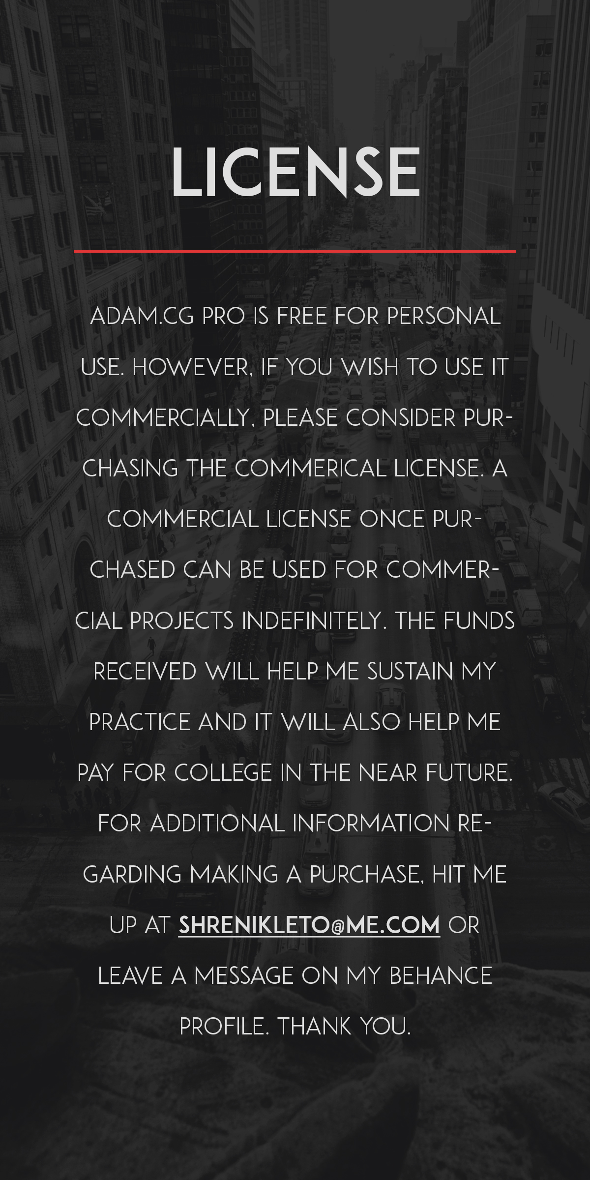 ADAM.CG PRO Free Typeface for Personal USE