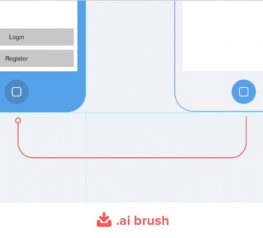AI Brushs for Wireframing Mobile Apps and Websites freebie
