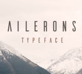 Ailerons Free Typeface - Free Download Link
