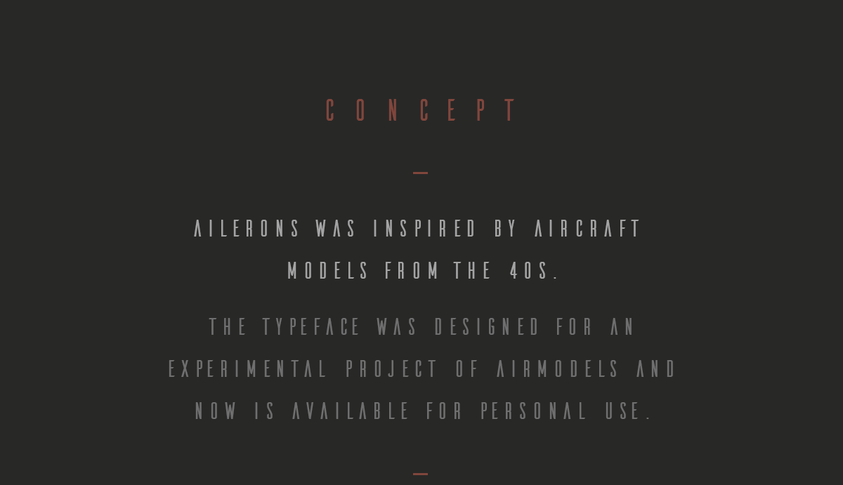 Ailerons Free Typeface Personal Use for Free