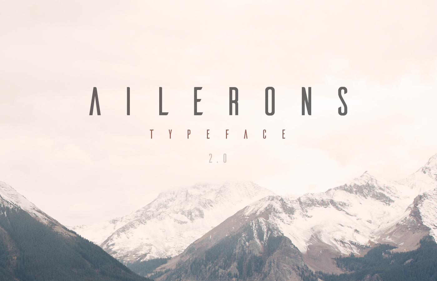 Ailerons Free Typeface - Aircraft Modern Font - Free Download