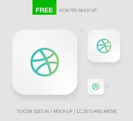 Apple Icons Template for PSD Free Retina icons