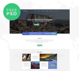 Charity Free Web Template for Photoshop - Clean & Modern design