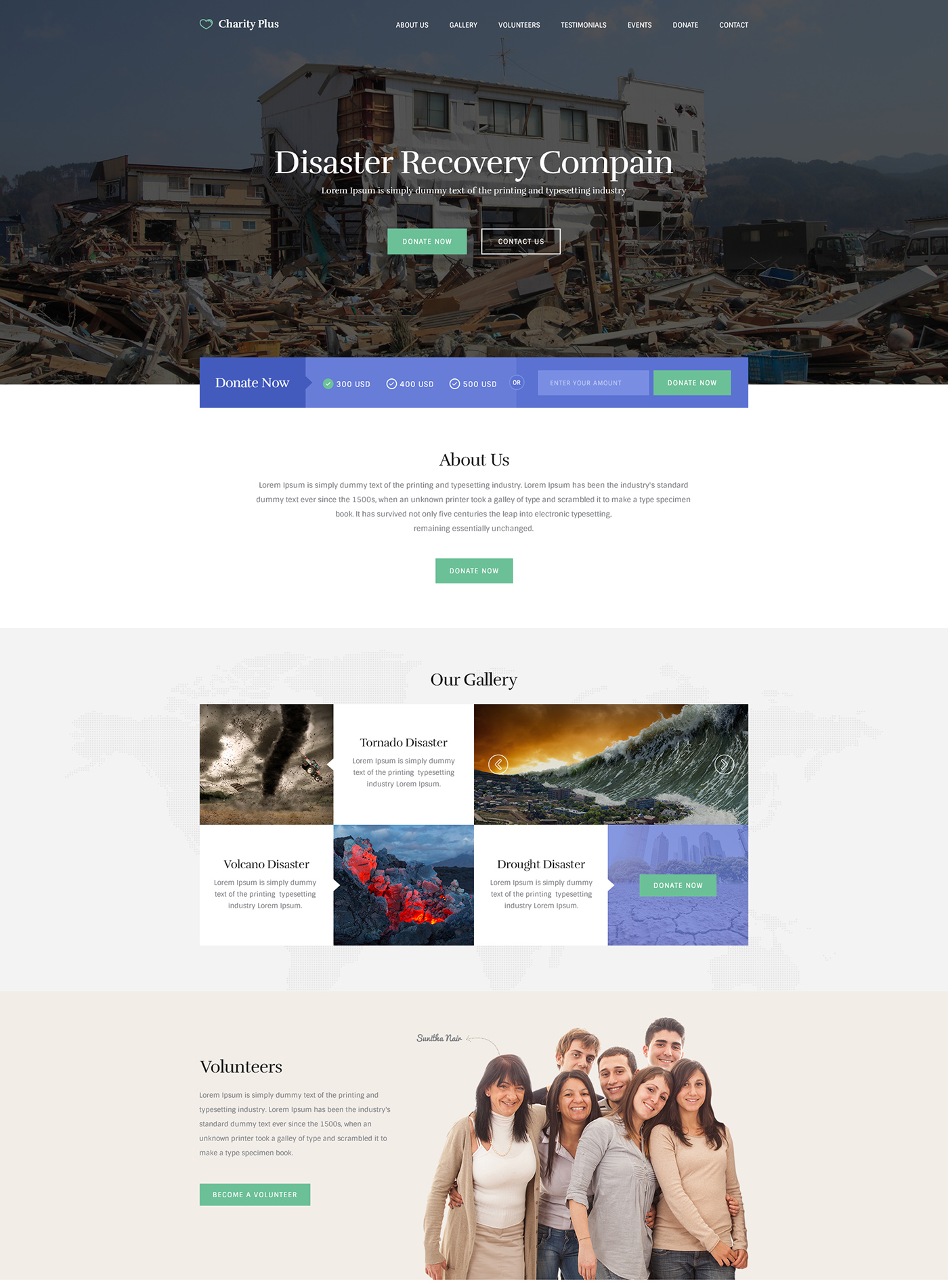 Charity Theme Web Design PSD for UI Designers