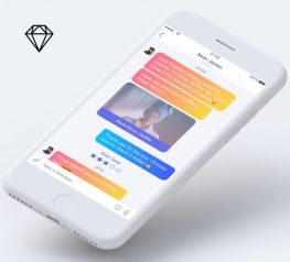 Chat Message App Concept Design UI Kit