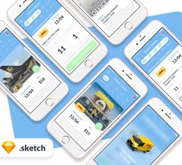 Delivery App Design UI Kit for Sketch Designers