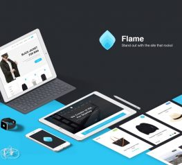 Flame Web UI Kit for Sketch designers