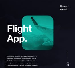 Flight App Design Concept Freebie for Sketch Designers