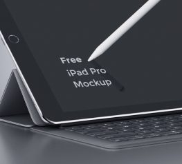 iPad Pro Free Mockup for Photoshop Designers