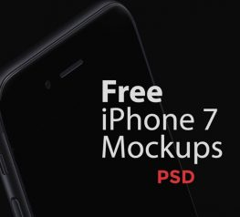 Free iPhone 7 Mockups for Photoshop
