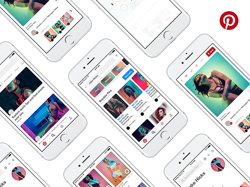 Pinterest Mobile Gui Kit App Design For Sketch Freebiesui