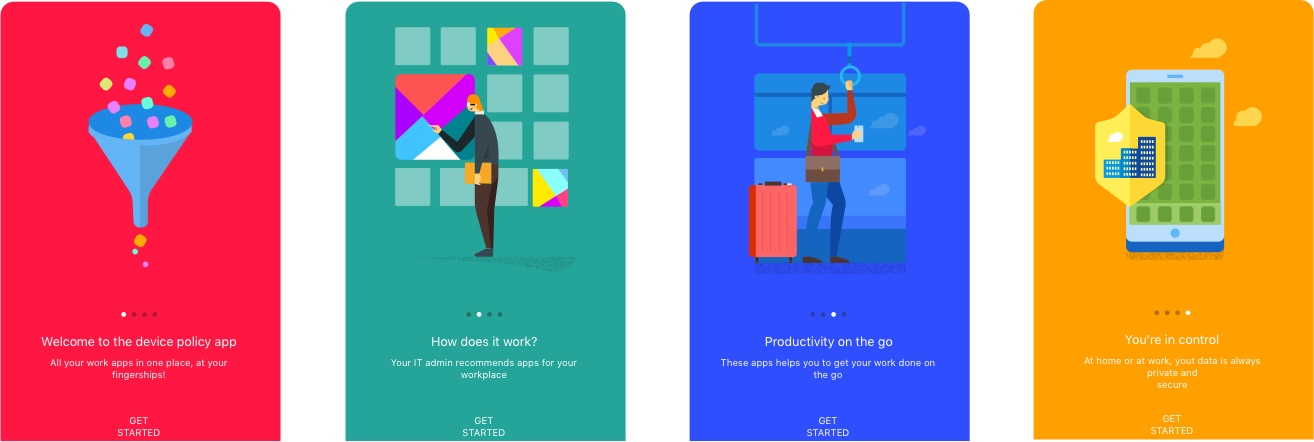 4 Onboarding Illustrations from Google - Free UI Kit for Sketch Designers - Download Link