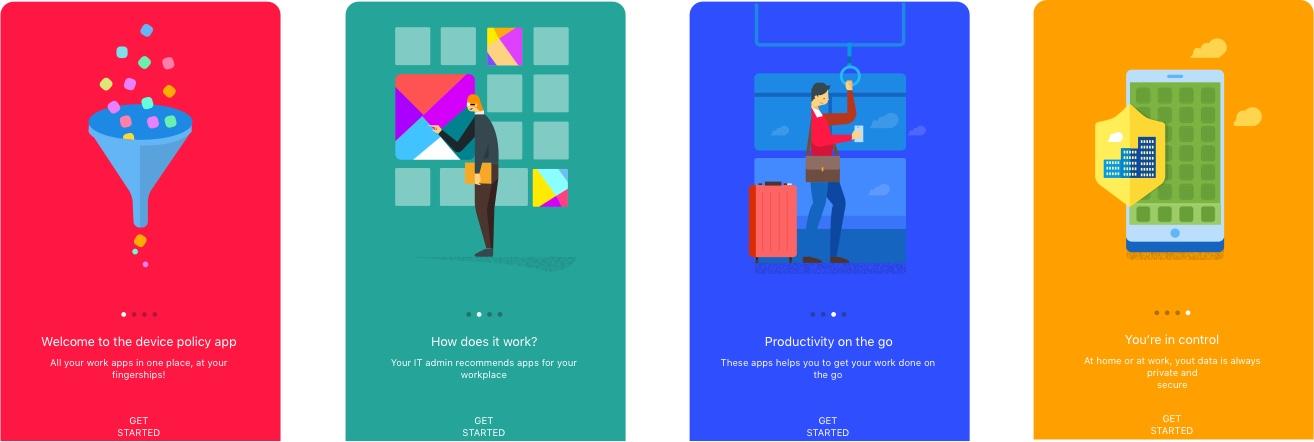4 Onboarding Illustrations from Google - Free UI Kit for Sketch Designers - Download Link