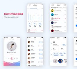 HummingBird 7 Screens Free Mobile App Design For Photoshop designers