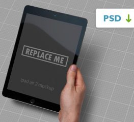iPad Air 2 Real Mockup Free For Photoshop