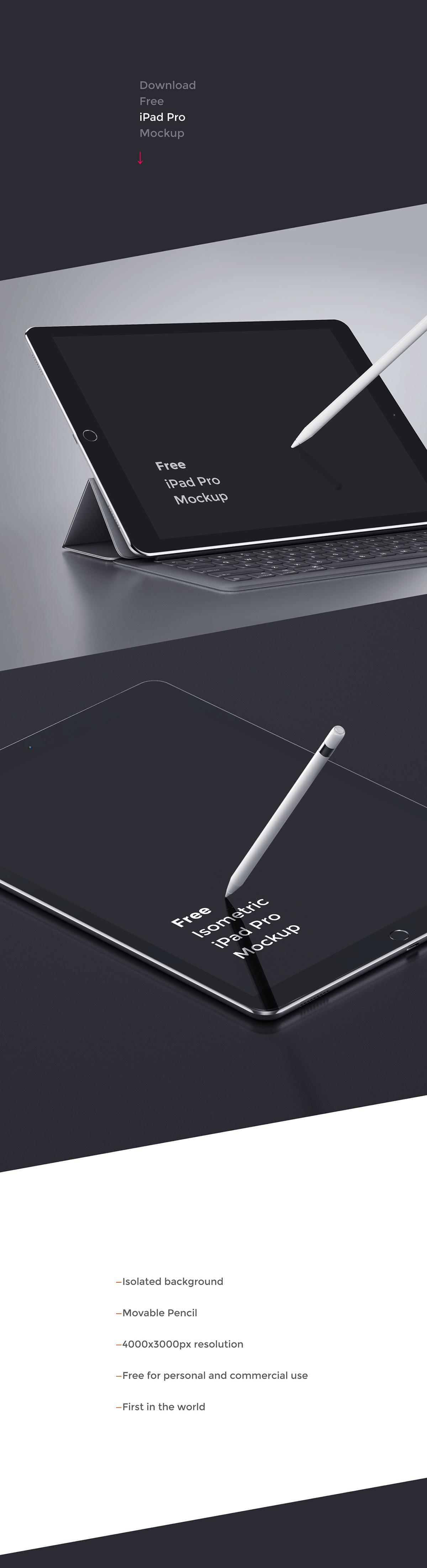 iPad Pro Free Mockup for UI UX designers
