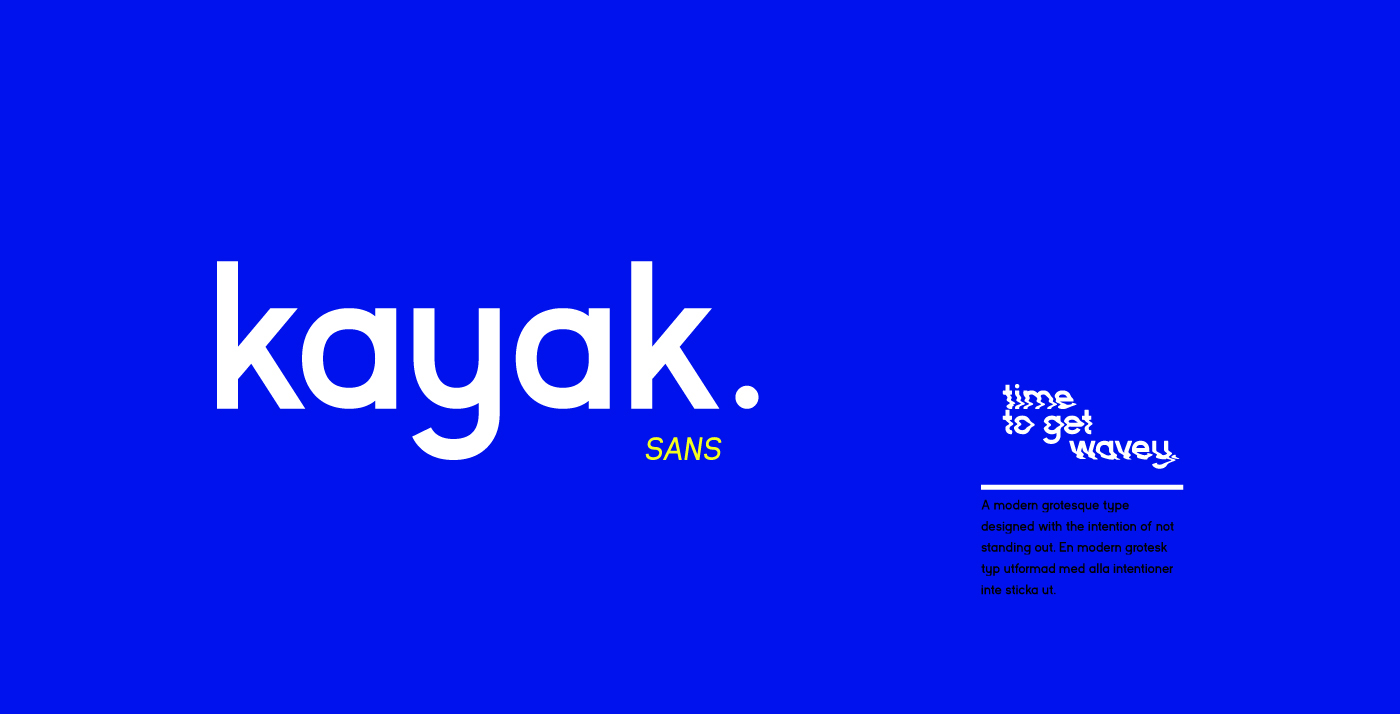 Kayak Sans Free Typeface - Download Link