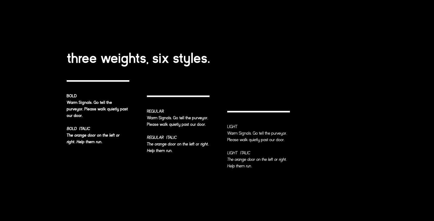 Kayak Sans - Free Font - Three Glyph sets