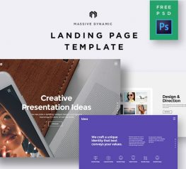 Landing Page Template for Design Company PSD