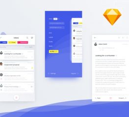 App Design Mail Mobile Client for Sketch