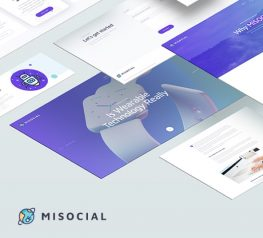 MISOCIAL Web Template Free PSD Design for UI designers