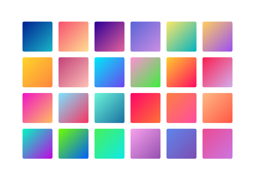 24 Modern Gradient Palettes for Sketch UI Designers