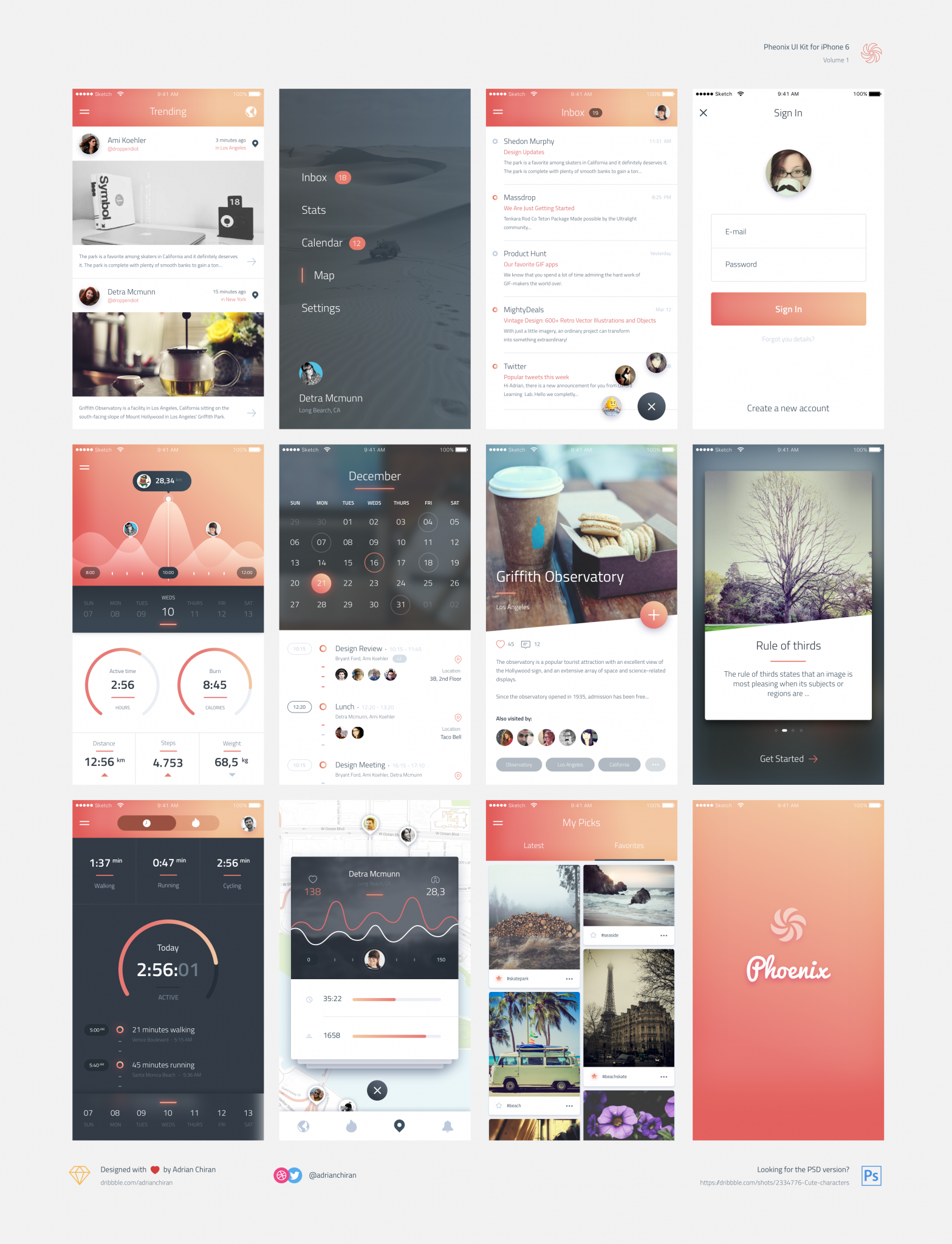 Spalsh screen App design Pheonix vol 1 ui kit toolbox