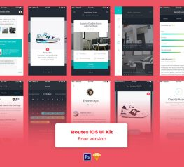 Routes - iOS App Design UI Kit for Sketch and Photoshop