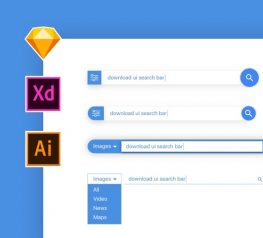 Search Bar UI Kit for Sketch, AI, Xd free download link