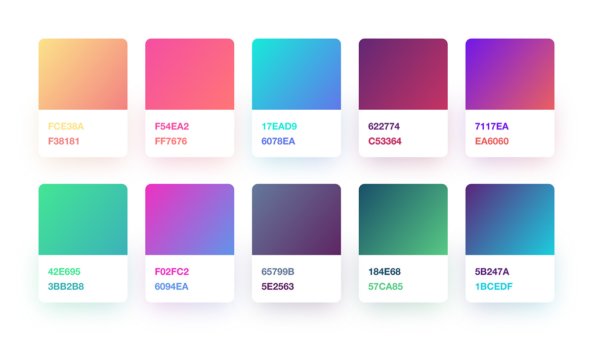 Free Gradient Color Palette For Sketch Designers Freebiesui