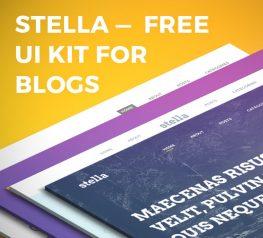 Stella Best Blog Free UI Kit for PSD