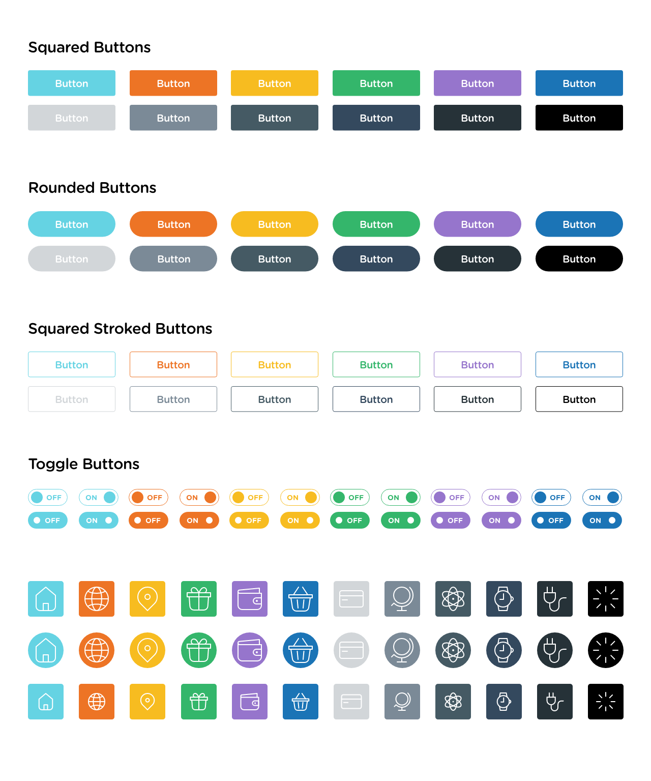 Web & Mobile UI Elements for UI UX Designers - Vector Buttons & Icons