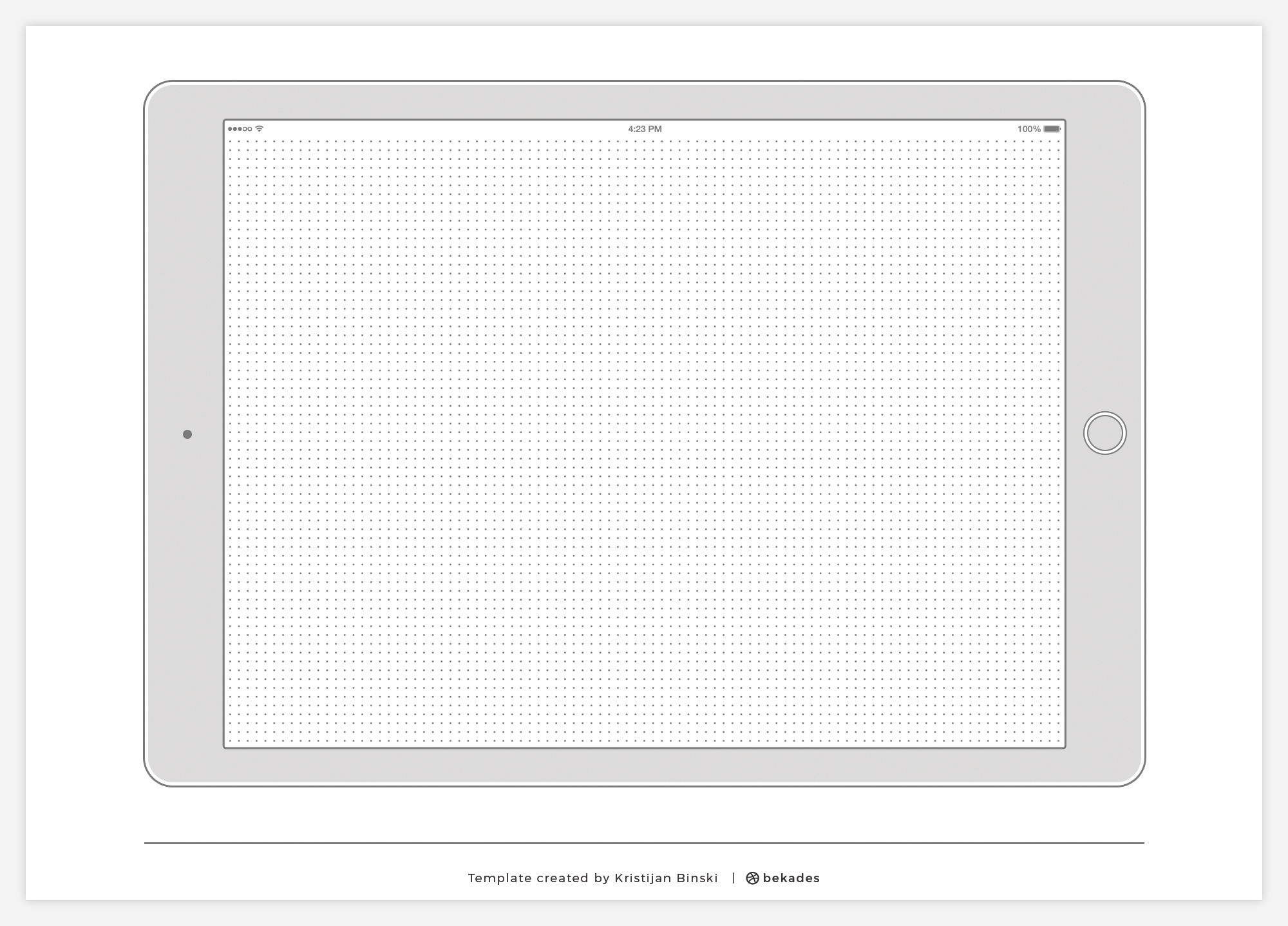 iPad Printable Wireframe Template for UI Designers