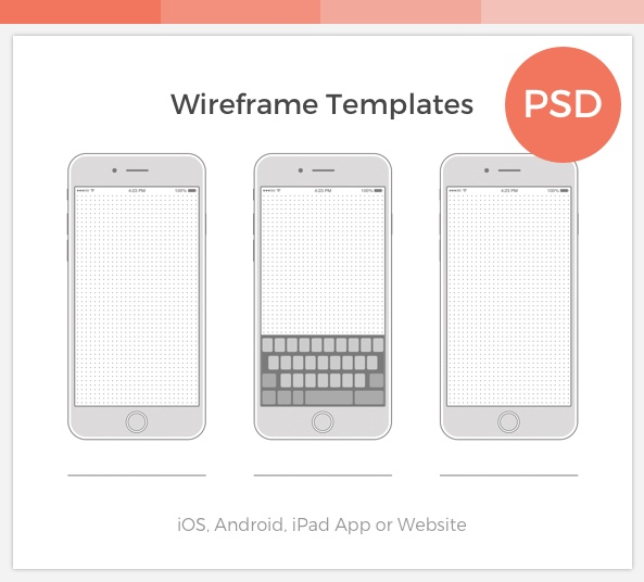 FREE Wireframe Templates Collection for PSD & PDF - FreebiesUI