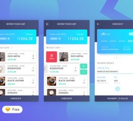 3 Steps Checkout Free UI Kit for Sketch Designers - Free Download