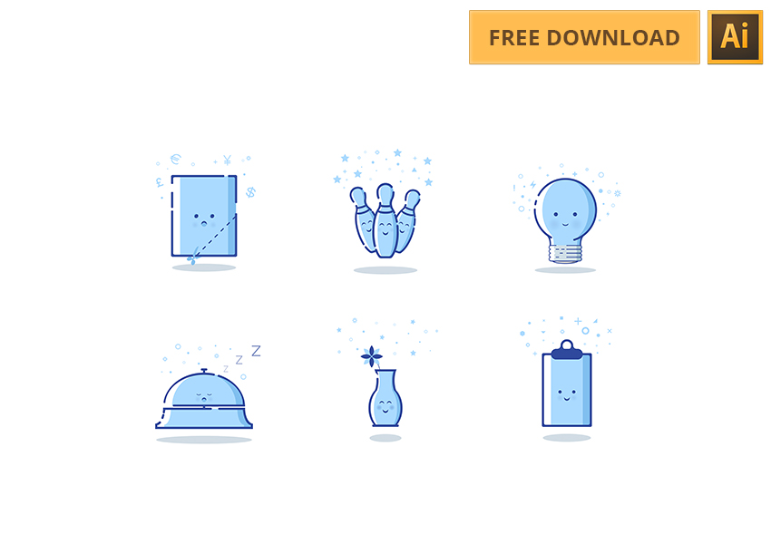 6 Cute MBE Style Icons for AI designers - Free Download