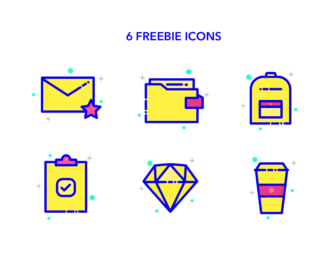 6 MBE Style Icons for Web and Mobile Projects - Sketch Free Resource
