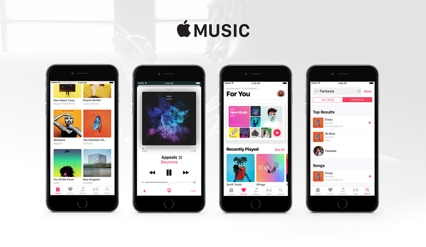 Apple Music UI Kit for Sketch - UX UI Design Resource