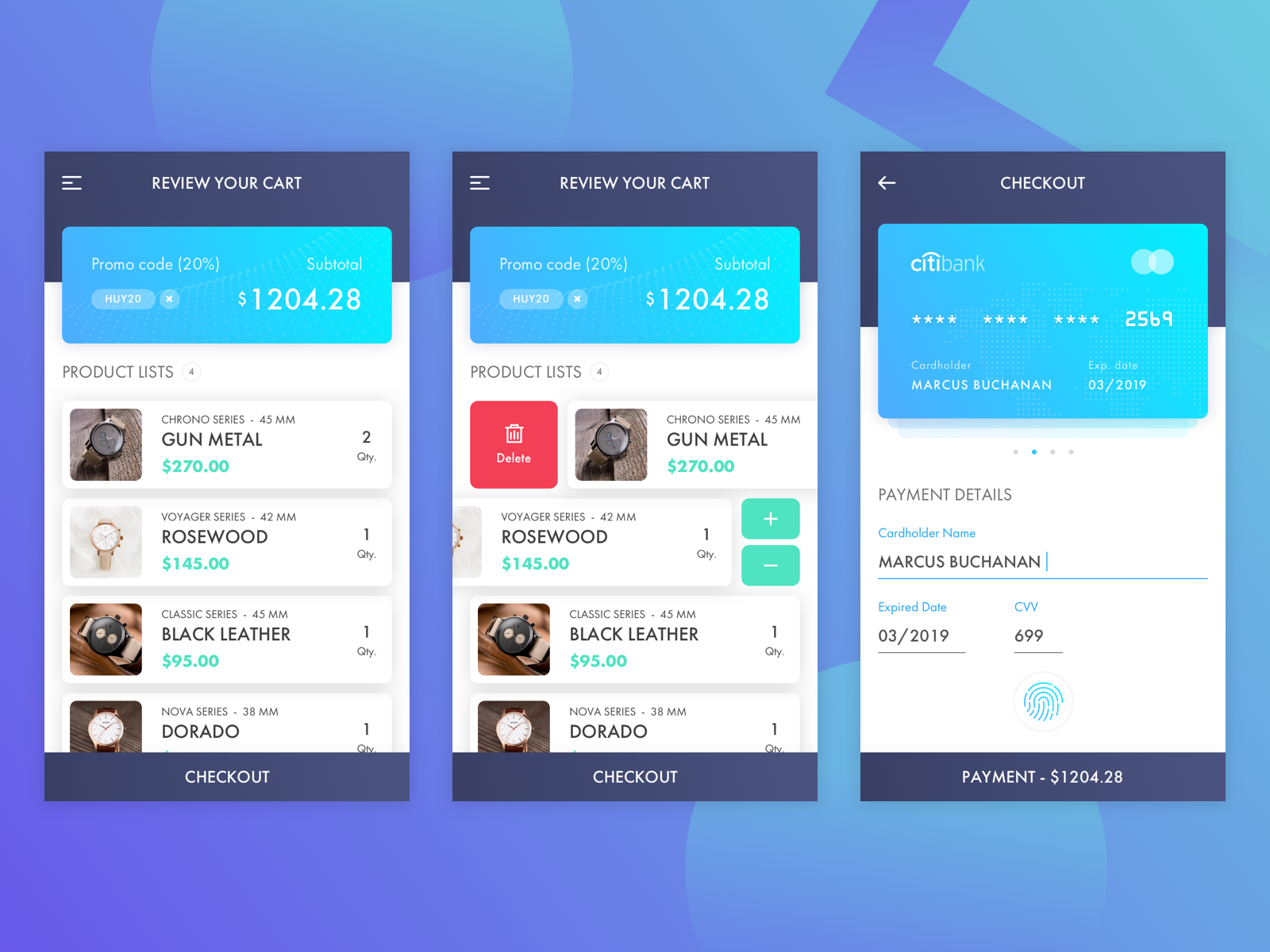 3 Steps Checkout Free UI Kit for Sketch Designers - FREE Download Link