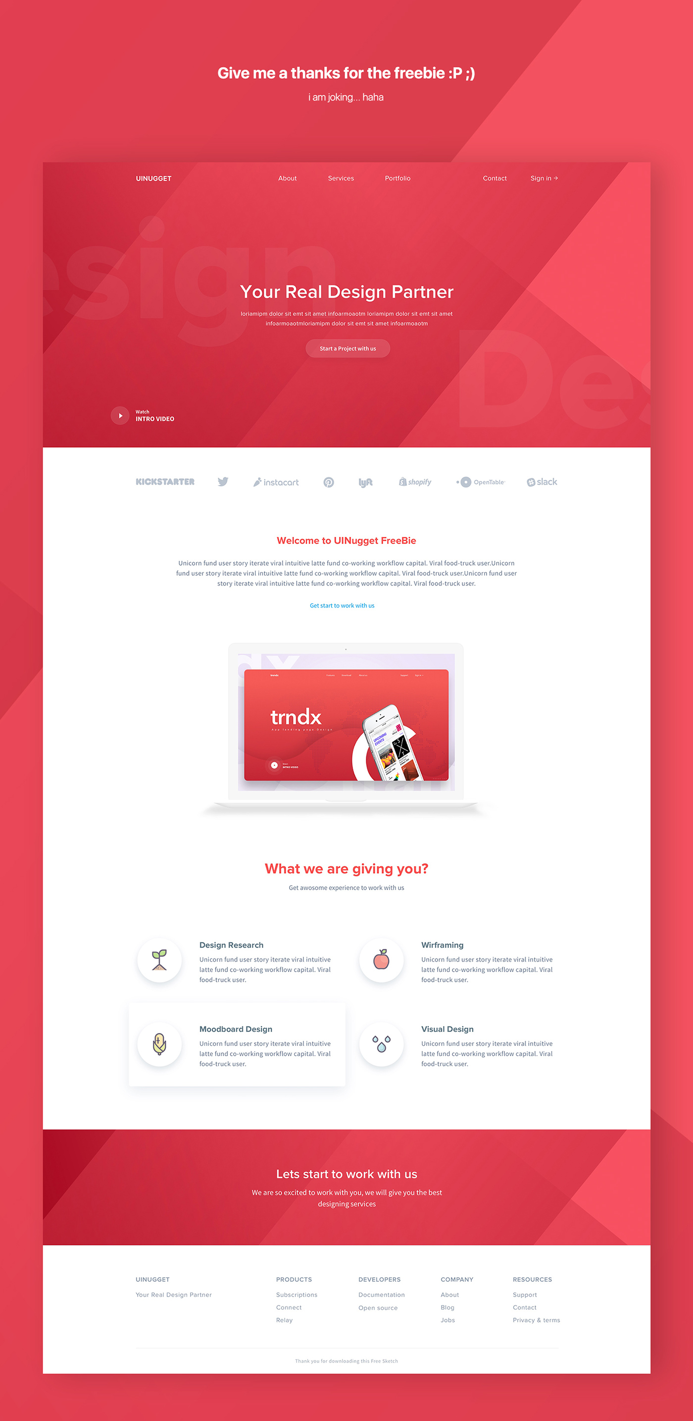 UInugget Free Web Template