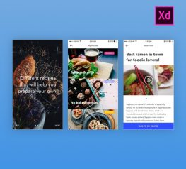 Foodies Free UI Kit for Adobe Xd - Download UX UI Resource