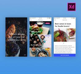 Foodies Free UI Kit for Adobe Xd - Download UX UI Resource